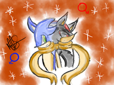 BFF sonic and shadow by teresastrawberry