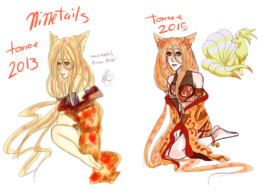 Ninetails Tomoe by teresastrawberry