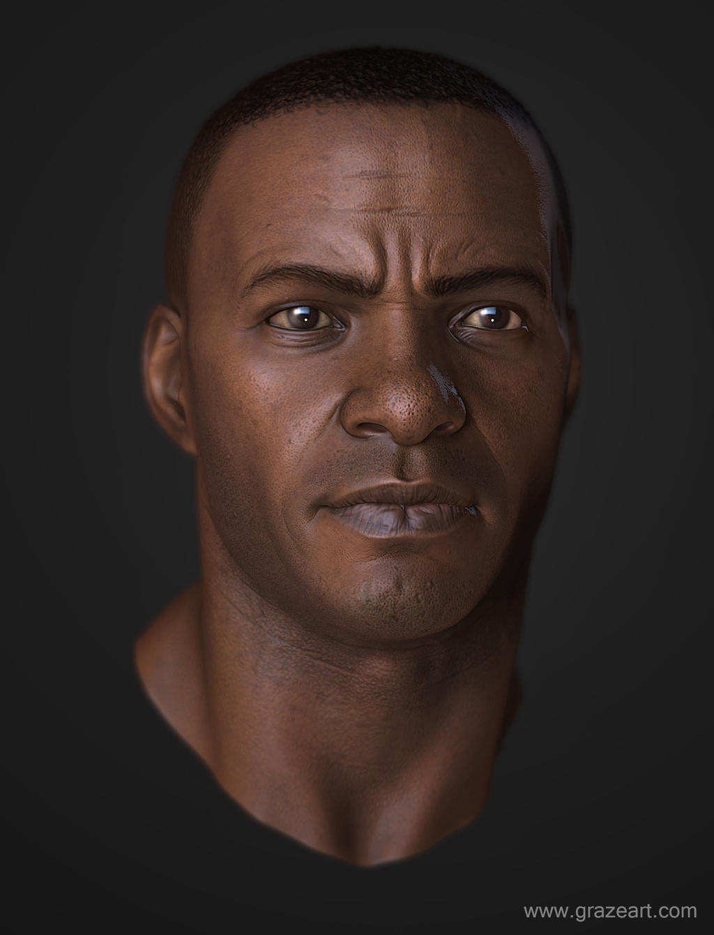 Black guy Rendered by Grazeart on DeviantArt