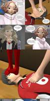Persona 5 - Ann and Haru foot worship