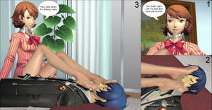Persona 3 - Yukari Takeba foot worship