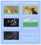 PMV Commissions (OPEN) by Hooded-Cavy
