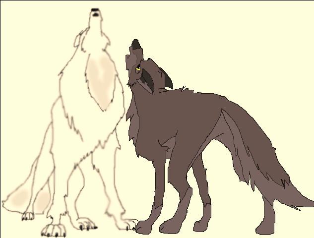 Cartoon wolf howling drawings - photo#17