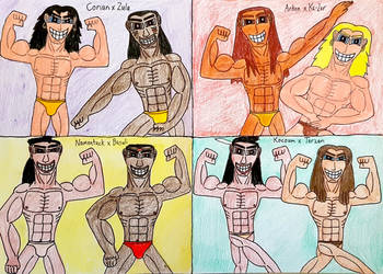 Four Olympian Muscleman Couples by AntoniMatteoGarcia