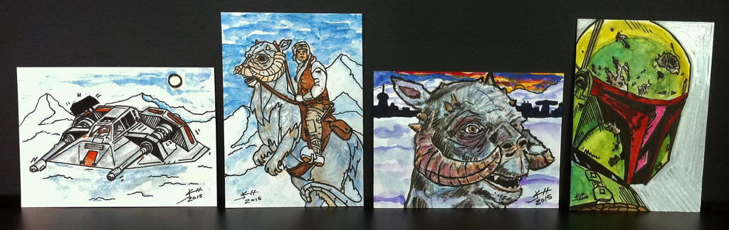 Star Wars ESB Sketch Cards by Jack Chattox 2015 by JChattox on ...
