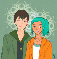 Oxenfree Alex and Jonas by Chocotorta