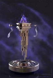 Rhovia - crystal key artifact by axelbockhorn