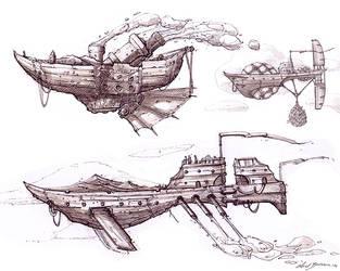 ship sketches by axelbockhorn