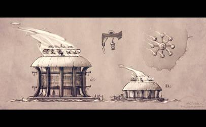 Rhovia - Ferjokh power plant sketches by axelbockhorn