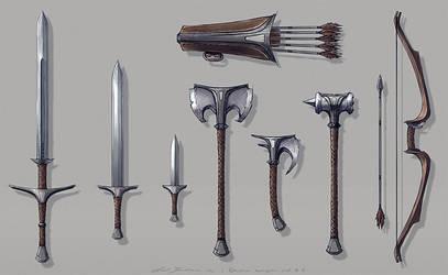 Rhovia - Weapon set #1 by axelbockhorn