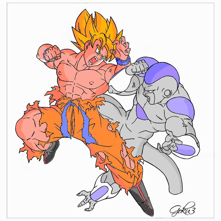 Goku Vs. Frieza By RedDBZ On DeviantArt