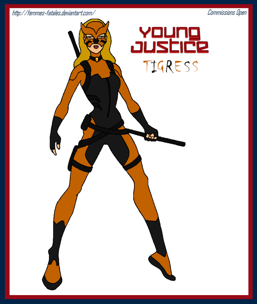 Commission - Young Justice Tigress by Femmes-Fatales