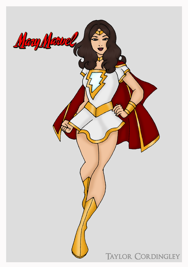 Mary Marvel Redesign by Femmes-Fatales