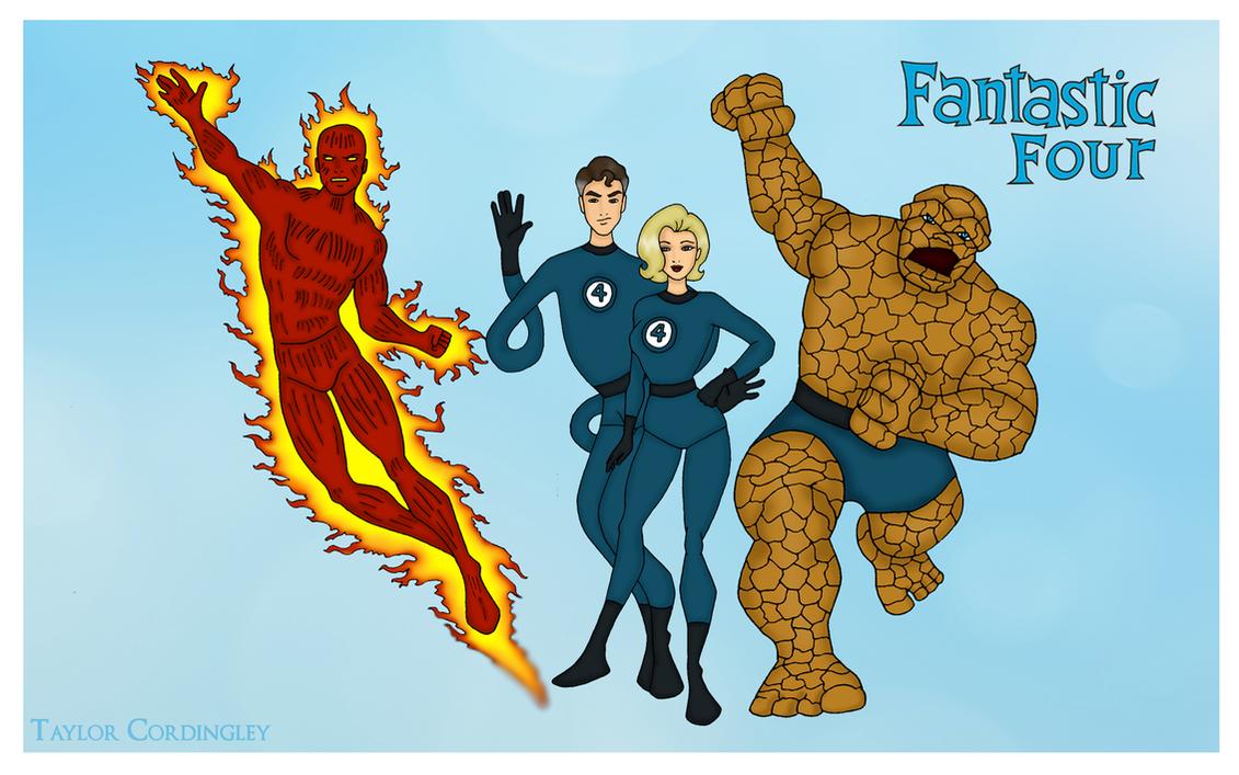 Fantastic 4 Cartoon Characters : The original fantastic four by femmes fatales on deviantart