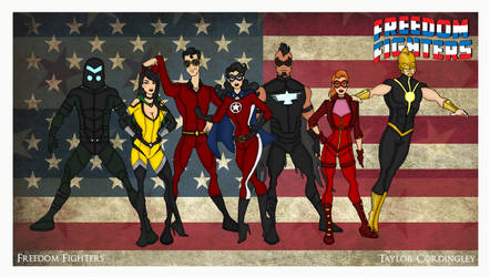 My DCU - Freedom Fighters Redesigned by Femmes-Fatales