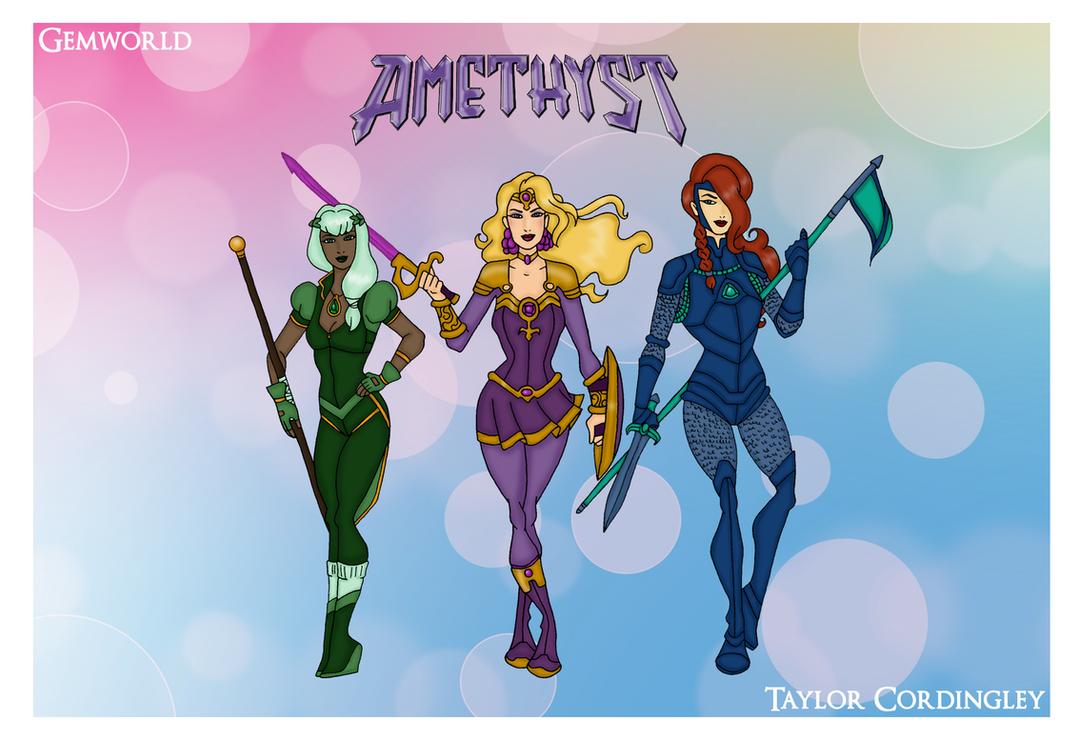 My DCU - Amethyst, Princess of Gemworld Redesigns by Femmes-Fatales