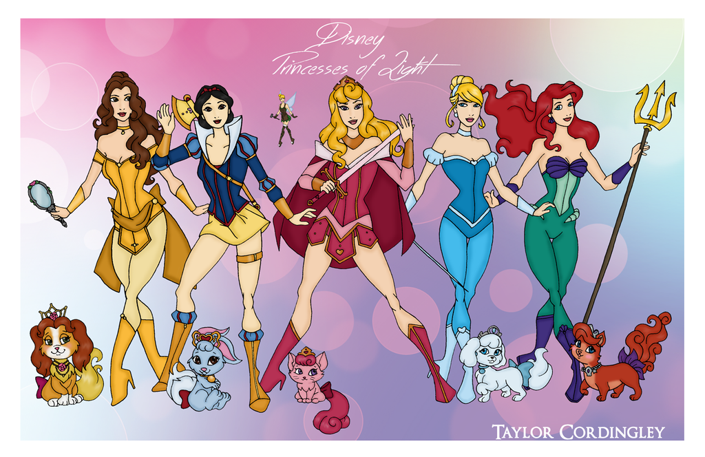 Disney Princesses Of Light By Femmes-Fatales On DeviantArt