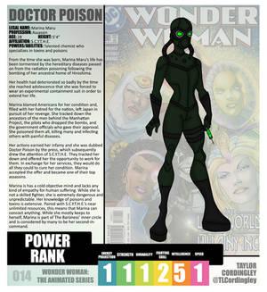Wonder Woman TAS - Doctor Poison Redesign Profile