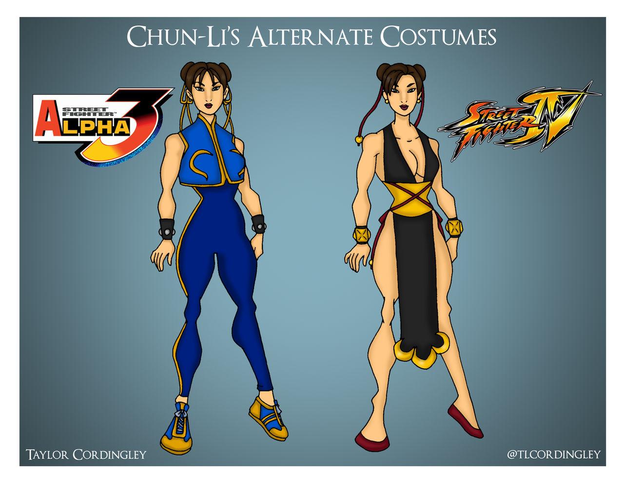Street Fighter Chun Li S Alternate Costumes By Femmes Fatales On