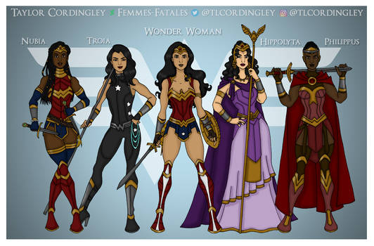 Wonder Woman - The Royal Family of Themyscira by Femmes-Fatales