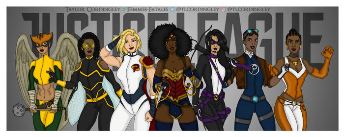 Nubia's Justice League - Redesigns