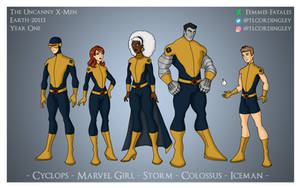 The Uncanny X-Men Earth-20113 Year One Designs by Femmes-Fatales
