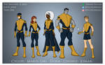 The Uncanny X-Men Earth-20113 Year One Designs
