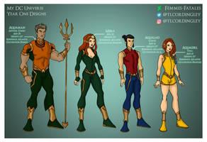 My DCU - Aqua Family Year One Designs by Femmes-Fatales