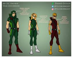 My DCU - Arrow Family Year One Designs by Femmes-Fatales