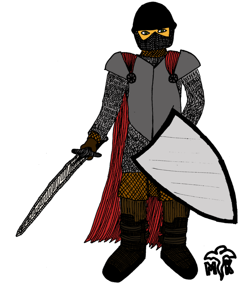 DnD character: Halfling knight by Ikhael