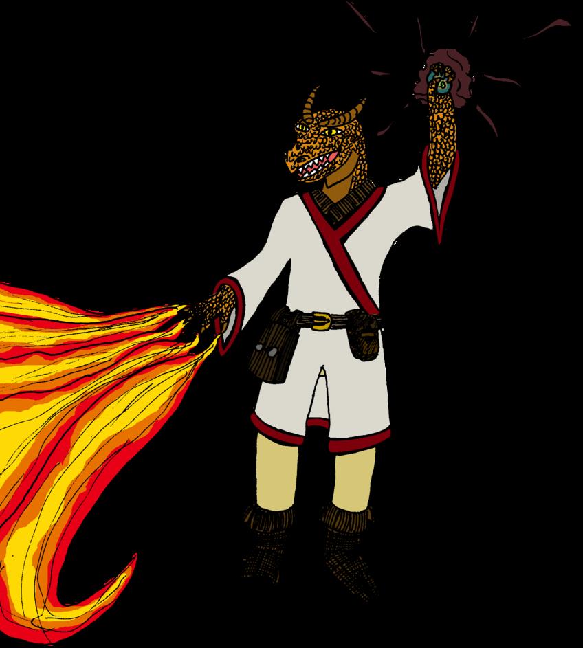 DnD character: Lizard wizard by Ikhael