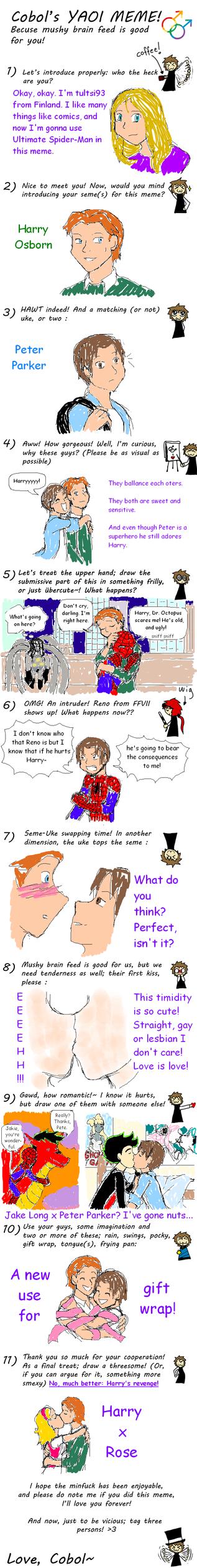 Cobol's yaoi meme: Marvel and Disney by tultsi93