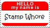 Stamp Whore name tag
