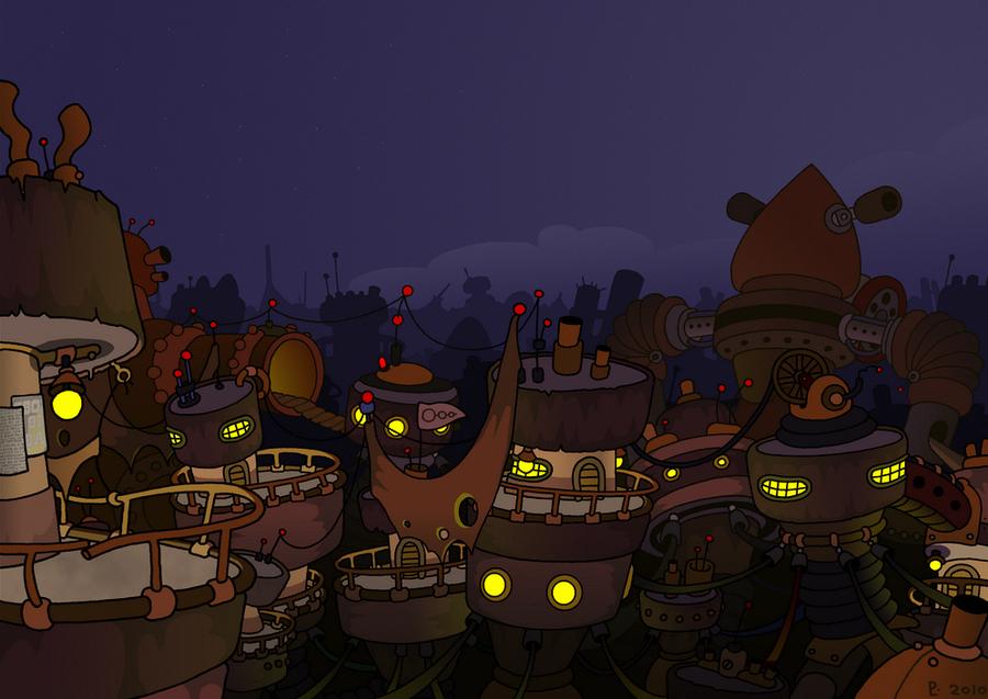 Night on the slums by StoneRabbit