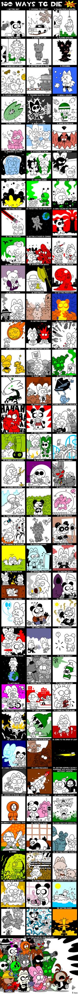 100 ways to die by StoneRabbit