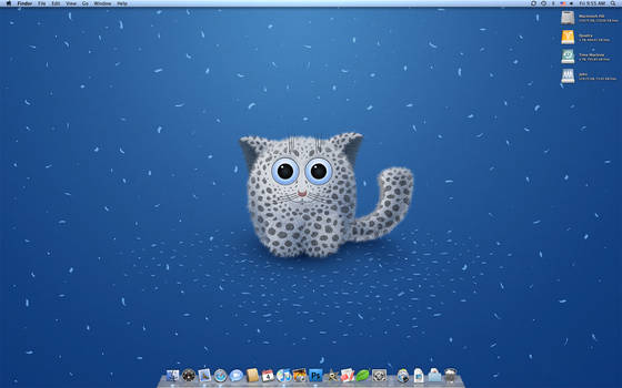 A Snow Leo on my Sept. Desk