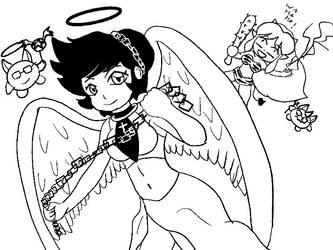 Benten, the Ogre Huntress Angel! by NeoPancho