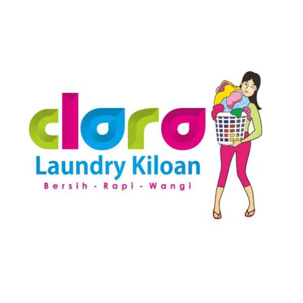 Desain Logo Laundry Clara by Pixelldesignlogo