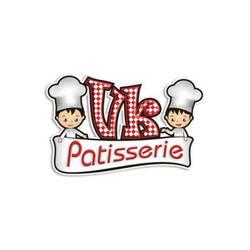 Desain Logo Makanan VK Patisserie by Pixelldesignlogo
