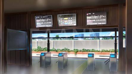 Morning Train Station