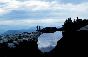 Pond on Zupjok-Alpaca Ridge by Westcoastspirits