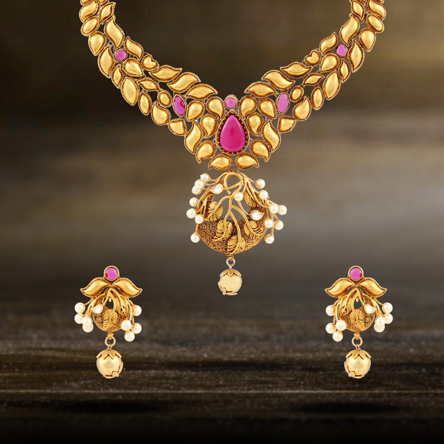 Kundan necklace buy kundan jewellery online in i by for Where to buy jewelry online