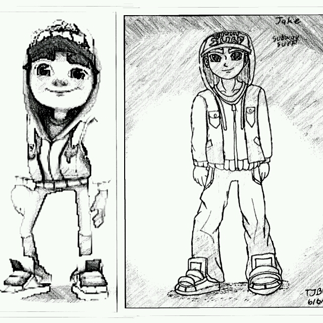 Jake from subway surf by draguto789 on deviantart for Subway surfers coloring pages