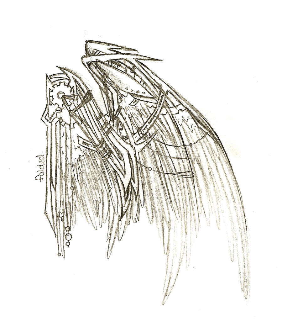 Steampunk wings lineart by rocknro8907