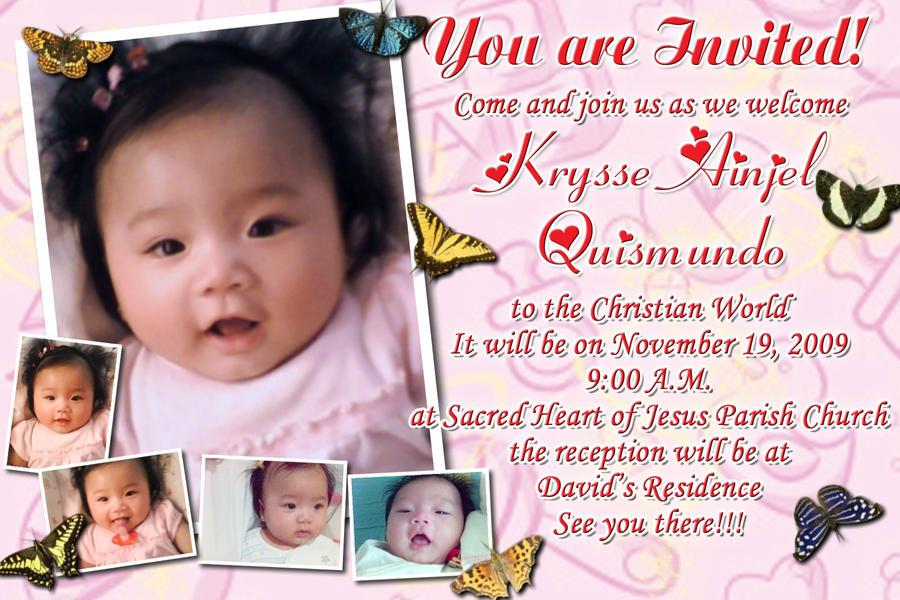 Baptismal Invitation Message is amazing invitation ideas