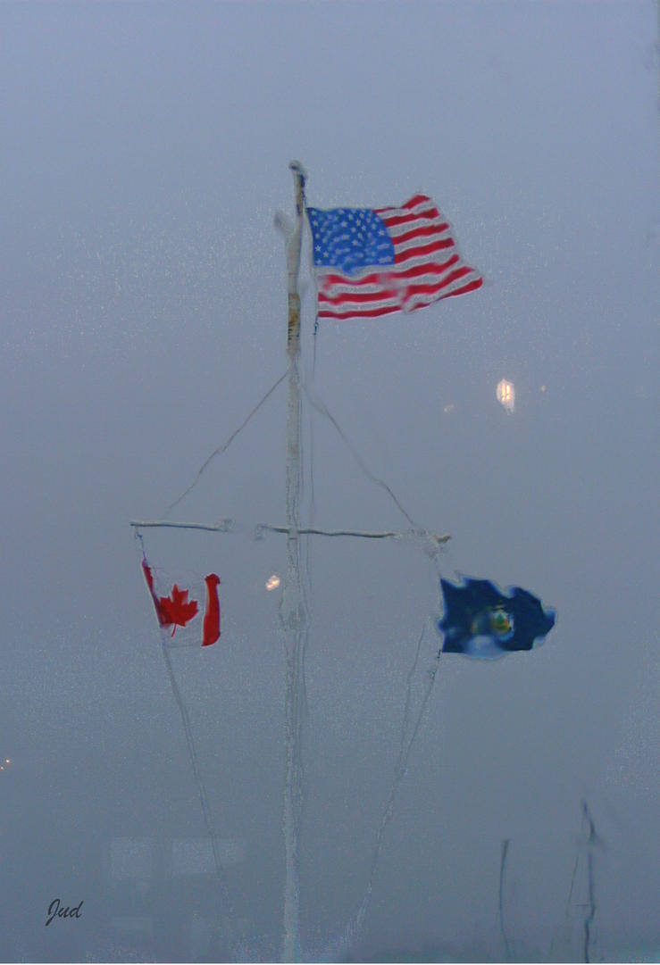 Flags In The Rain by Jud-W