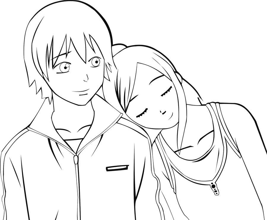 Dibujos De Animes Besandose Imagui