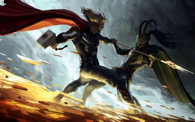 Thor-loki by SUPERVENOMo88