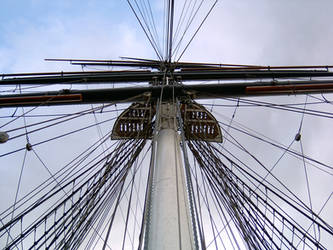 Looking up on the Cutty Sark