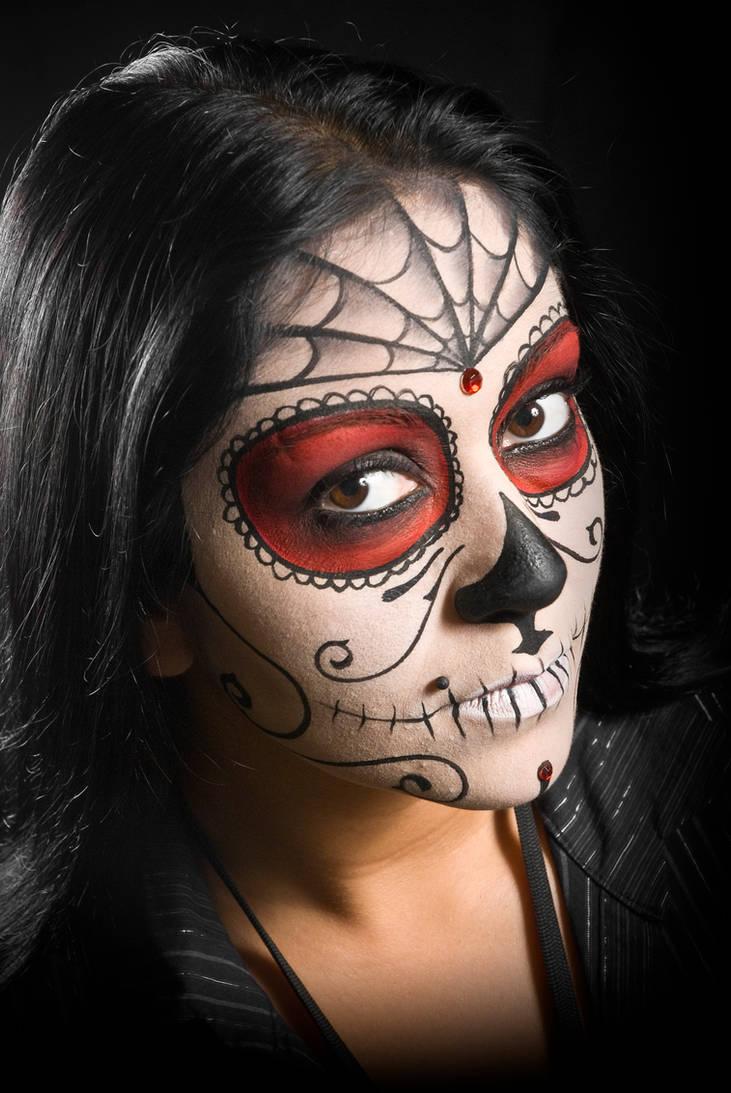 Sugar Skull Face Paint by bueller345
